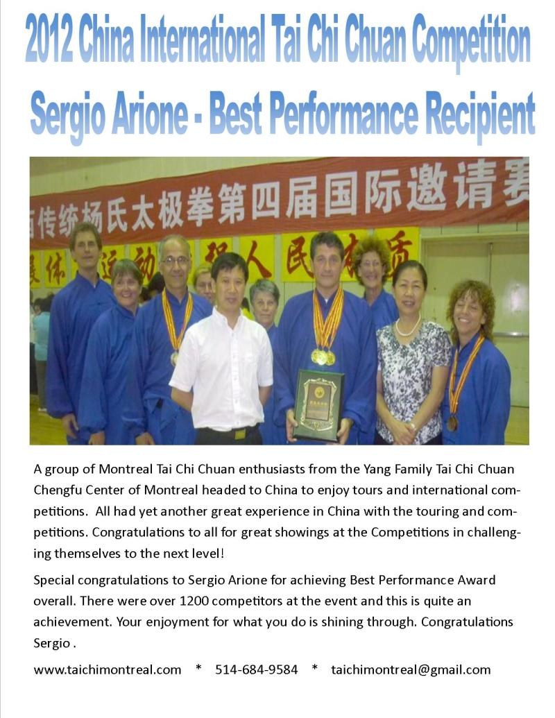 Tai Chi best performance in China 2012